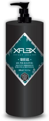 """<b>XFLEX</b><br><p style=""""font-size:0.7em"""">Átlátszó borotválkozó gél</p>"""